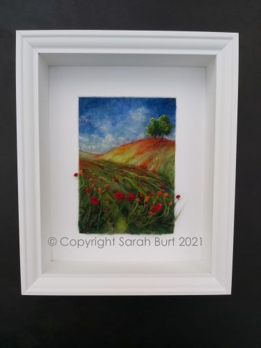 Copyright - Framed Poppies Upon the Hill (1)