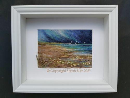 sarah-burt-contemporary-textile-art-seascape-Sailing Before the Storm-frame