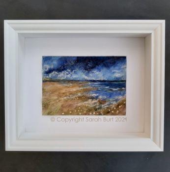 sarah-burt-contemprary-textile-art-seascape-framed-Above the Waves