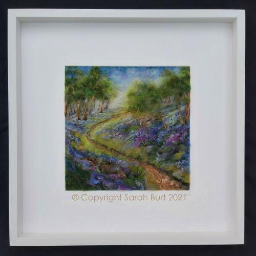 sarah-burt-contemporary-textile-art-landscape-between-the-bluebells-framed