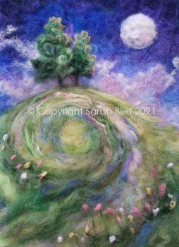SOLD -  Early Summer Moonlit Meadow