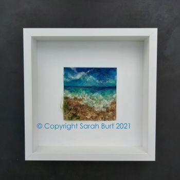 sarah-burt-contemporary-textile-art-seascape-Breaking-Waves-framed