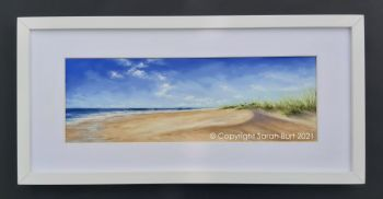 sarah-burt-fine-art-pastel-painting-seascape-framed-beyond-the-dunes