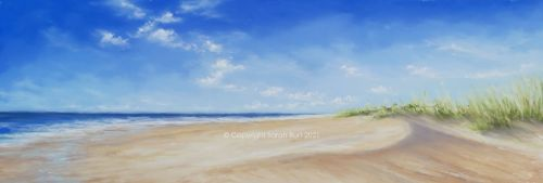 Pastel Painting - Beyond the Dunes