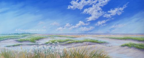Pastel Painting - Beyond the Creeks (Collection in Person Only)