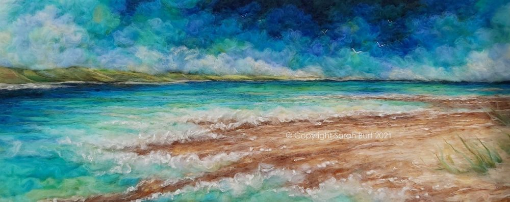 sarah-burt-contemporary-textile-art-seascape-norfolk-coast-reaching-the-Wav