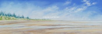 SOLD -  Pastel Painting - The Firs - Thornham Beach