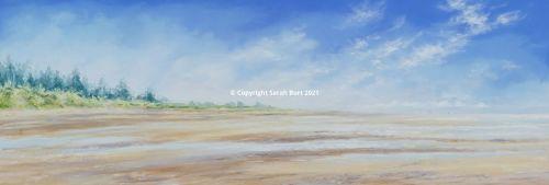 Pastel Painting - The Firs - Thornham Beach