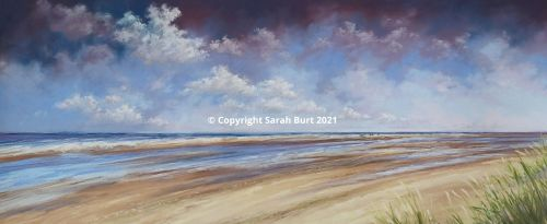 Pastel Painting - Over the Sandbanks (Collection in Person Only)