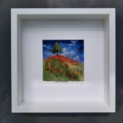 Sarah-burt-textile-art-norfolk-poppies-framed