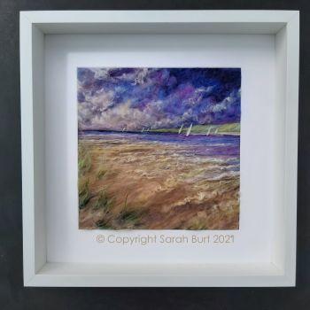 sarah-burt-framed-textile-art-seven-sails-norfolk-coast