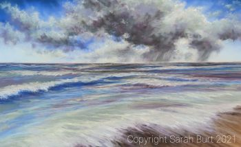 Pastel Painting - Sudden Summer Storm (Collection in Person Only)