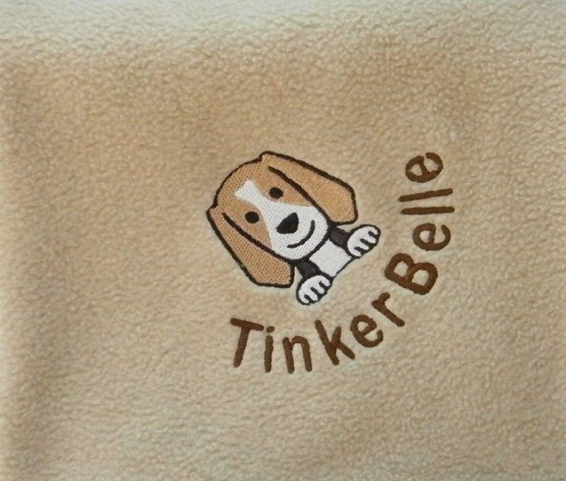 BEAGLE Embroidered Fleece Blanket