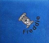 SCHNAUZER Embroidered Fleece Blanket
