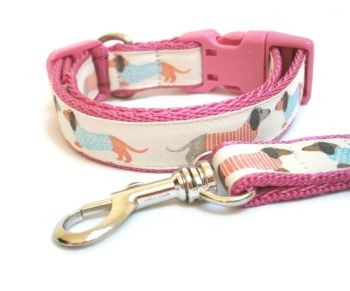 Dachshunds Collar & Lead Set - Choice of 10 Colours