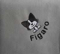 CAT Embroidered Fleece Blanket