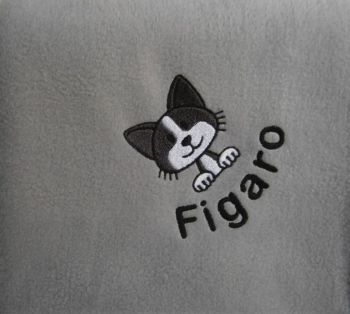CAT Embroidered Fleece Blanket