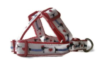 Dachshund & Heart - Step-In Dog Harness - 20mm