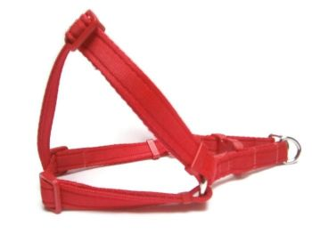 Plain Step-In Harness - Red