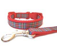 Royal Stewart Tartan Collar & Lead - Red
