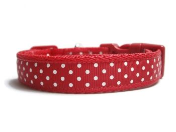 Polka Dot Collar - Red