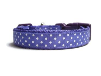 Polka Dot Collar - Purple