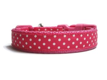 Polka Dot Collar - Dark Pink