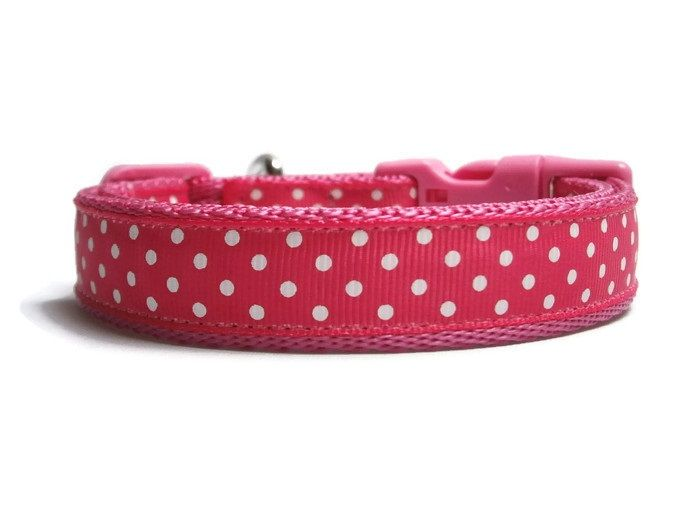 Polka Dot Collar - Pink & White