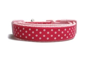 Polka Dot Collar - Light Pink