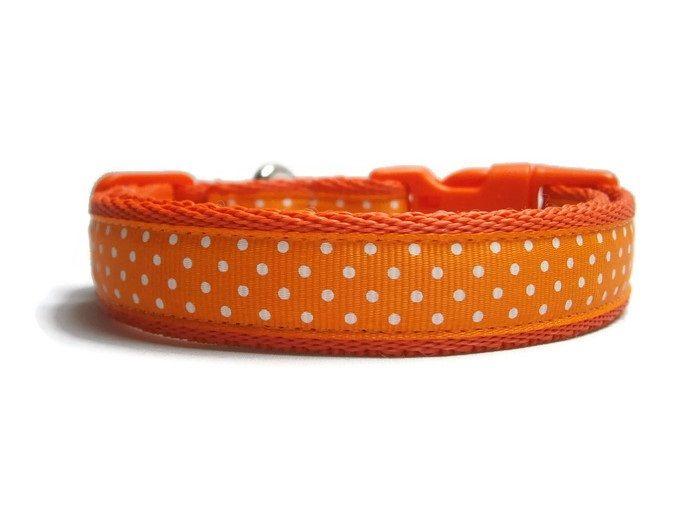 Polka Dot Collar - Orange