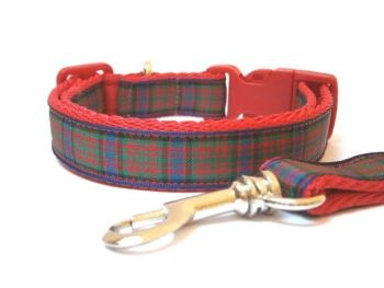 MacDonald Tartan Collar & Lead - Red