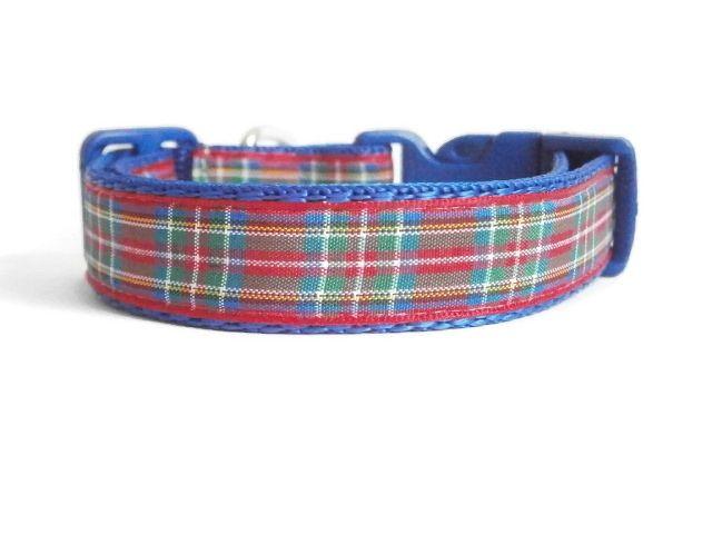 Royal Stewart Tartan Collar - Dark Blue
