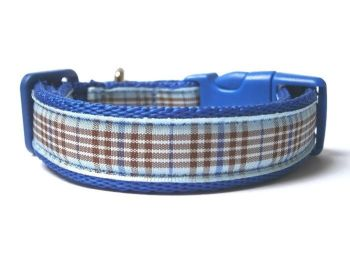 Blueberry Tartan Collar - Dark Blue