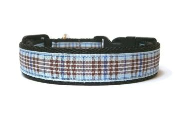 Blueberry Tartan Collar - Black