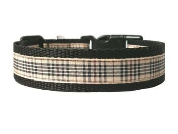 Blackberry Tartan Collar - Black