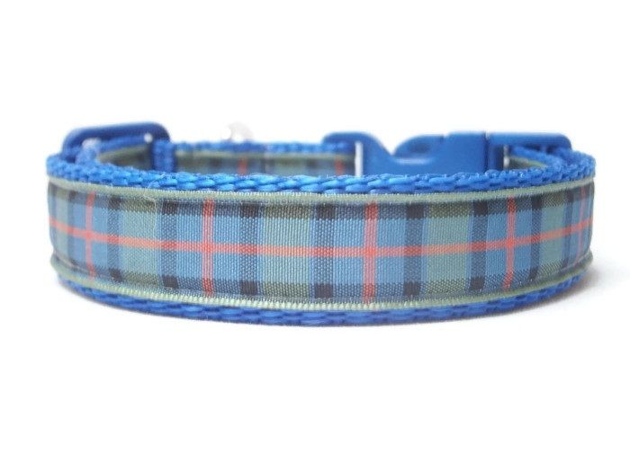 Flower Of Scotland Tartan Collar - Dark Blue