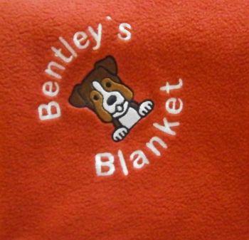 BOXER Embroidered Fleece Blanket