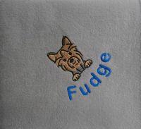 YORKSHIRE TERRIER Embroidered Fleece Blanket