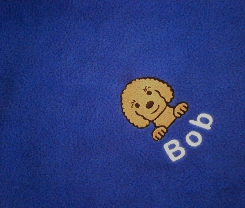 CAVAPOO Embroidered Fleece Blanket