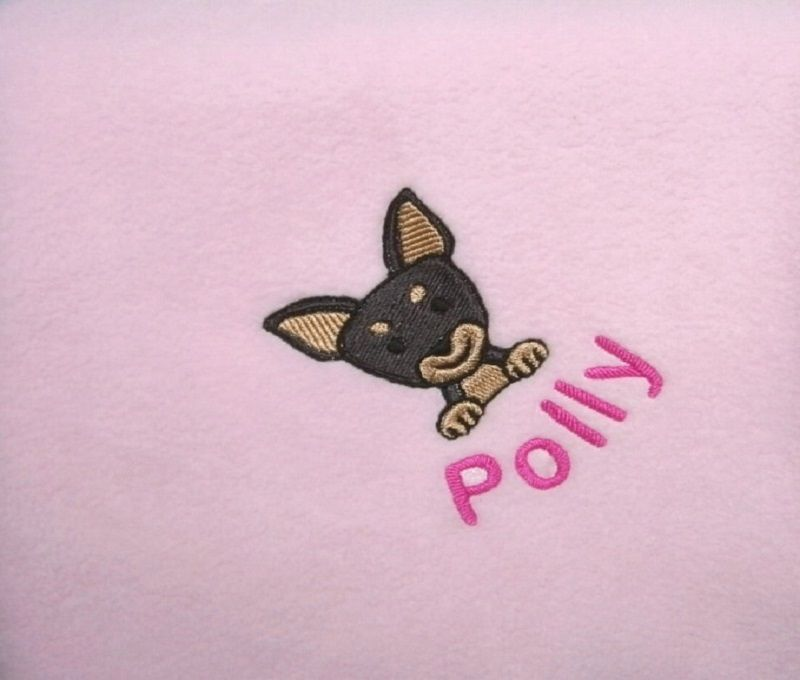CHIHUAHUA Embroidered Fleece Blanket