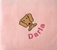 DACHSHUND Embroidered Fleece Blanket