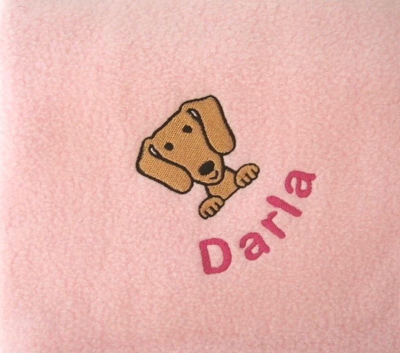 DACHSHUND Embroidered Fleece Blanket