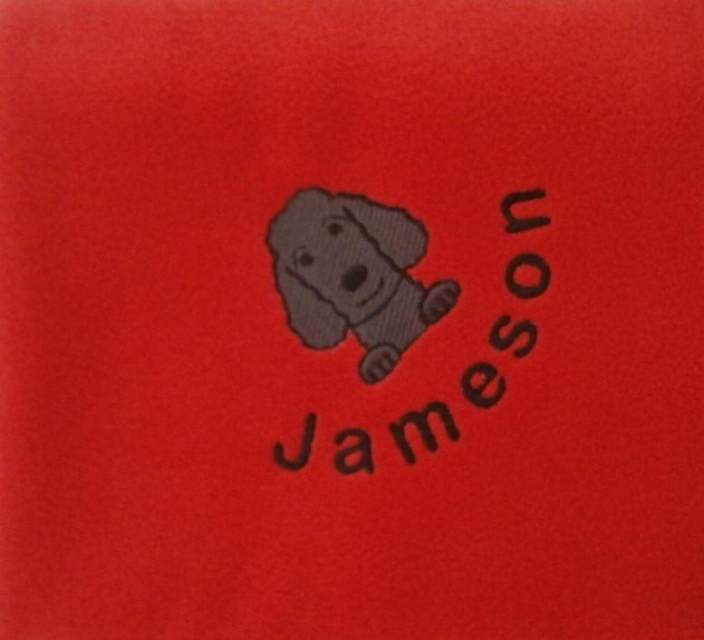 LABRADOODLE Embroidered Fleece Blanket