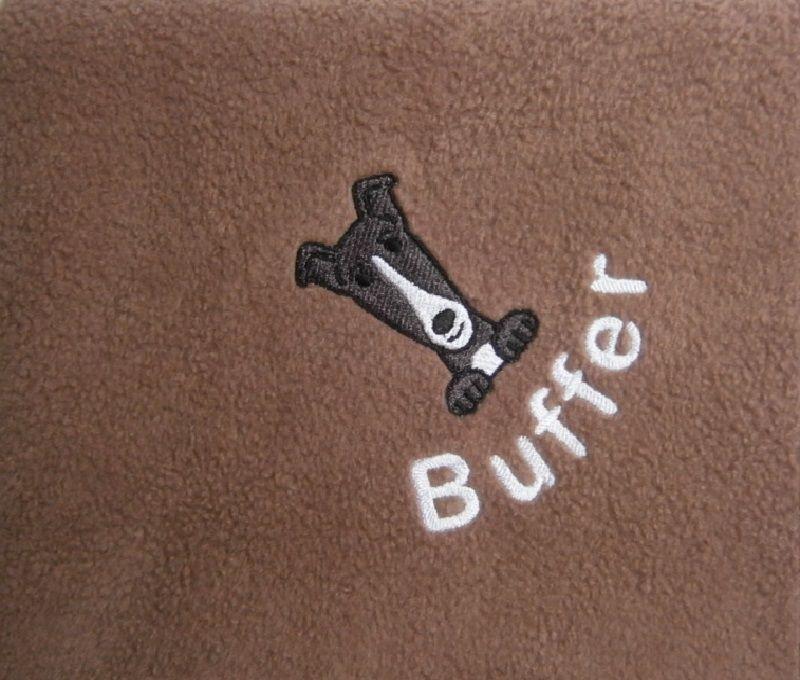 GREYHOUND Embroidered Fleece Blanket