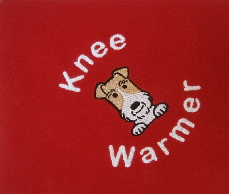 WIRE FOX TERRIER Embroidered Fleece Blanket
