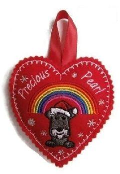 Large Memory Heart Christmas Decoration - Dog Breed