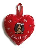Large Heart Christmas Decoration - Dog Breed