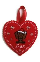 Small Heart Christmas Decoration - Dog Breed
