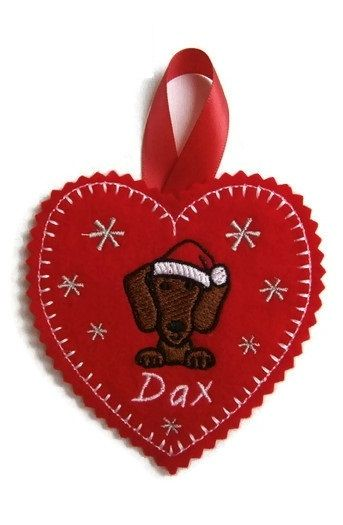 Christmas Tree Heart Decoration - Dog Breed