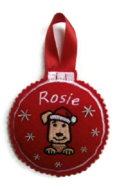 Large Christmas Bauble Decoration - Dog Breed